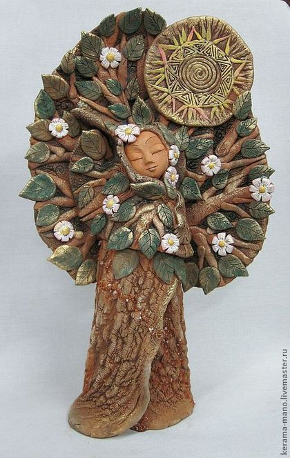 """Ceramic figurine / Статуэтки ручной работы. Ярмарка Мастеров - ручная работа. Купить Дерево """"Первоцвет"""". Handmade. Керамика ручной работы, первоцветы"""