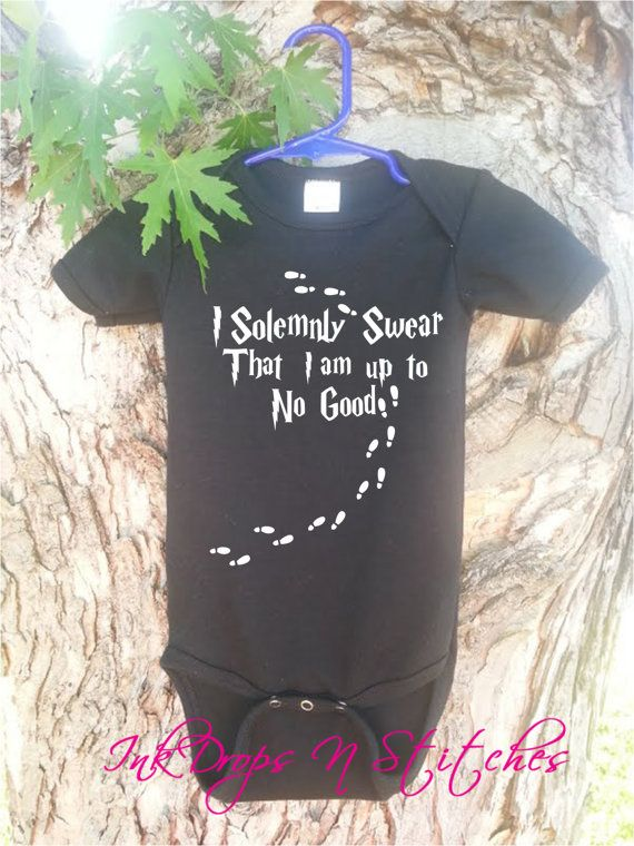 Baby Bodysuit FREE SHIPPING Cute I Solemnly by InkDropsNVinyl, $16.99