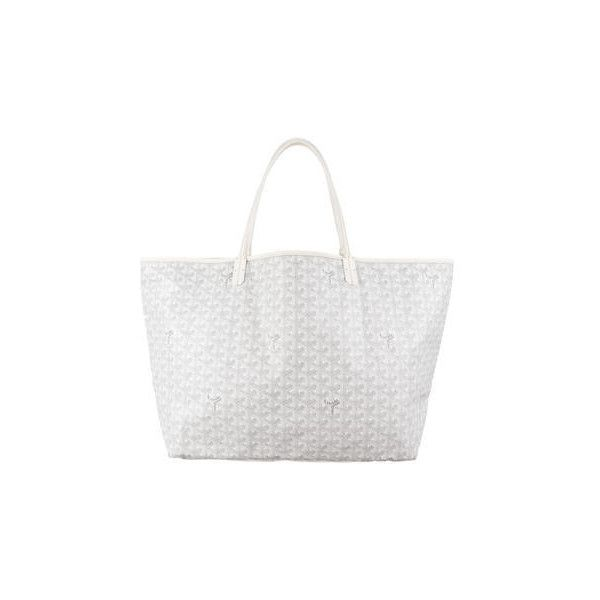 Goyard St. Louis GM ❤ liked on Polyvore featuring bags, handbags, tote bags, tote purses, coated canvas tote, goyard tote, white purse and man tote bag