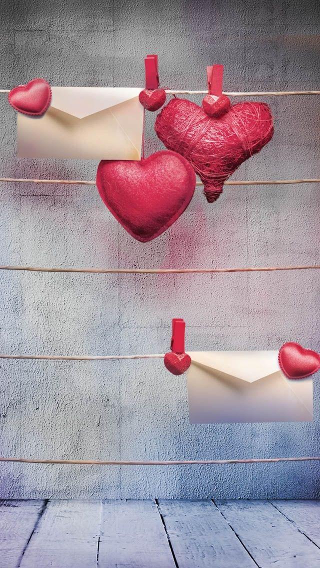 Hängende Herzen iPhone 5 Wallpaper