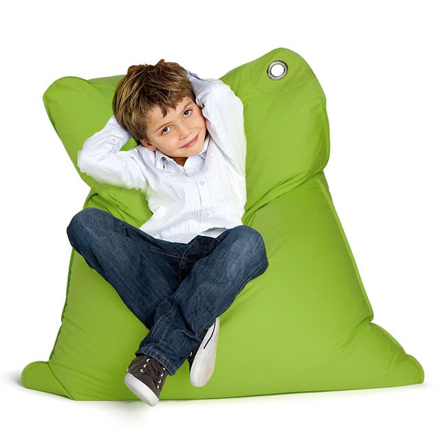 Sitting Bull Green Mini Kids Bean Bag Chair
