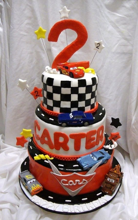 race car cakes for kids cars 3 tier racing track childrens birthday cakes