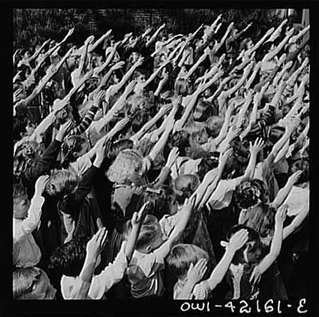 """http://ift.tt/2rucrqd That from 1892 to 1942 the """"Bellamy Salute"""" was used during the Pledge of Allegiance. It was replaced by """"hand over heart"""" after its resemblance to the Nazi Salute became embarrassing."""