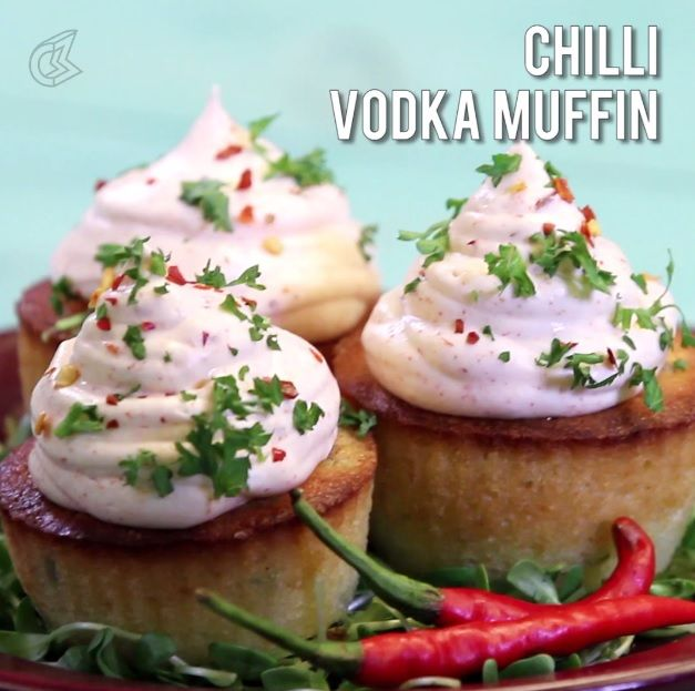 Chilli Vodka Muffin: A little high on sweetness and spice