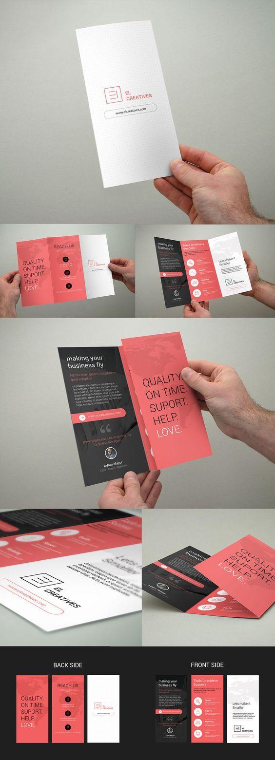 Minimal Corporate Trifold Brochure on Behance: