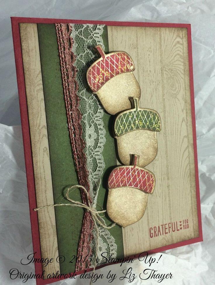 Liz Thayer: Glitterbug Greetings - Grateful for YOU! - 10/11/15.  (Pin#1: Christmas: Pines/ Branches/... Pin+: Fall...; Glitterbug Greetings).