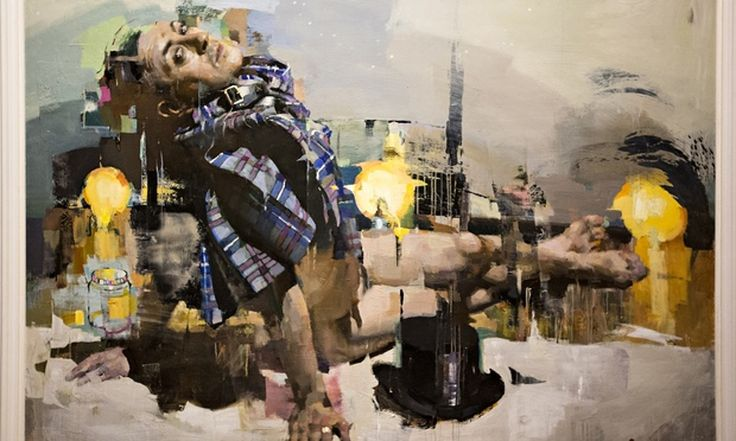 Painting of actor by Christian Hook is the winning commission for the Sky Arts portrait artist of the year competition
