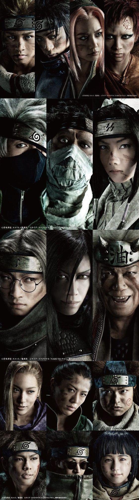 Live Spectacle Naruto, the upcoming stage play adaptation of Masashi Kishimoto's manga (2015). Cast visuals.