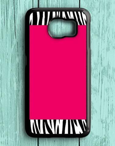 Zebra Pattern On Hot Pink Samsung Galaxy S6 Case