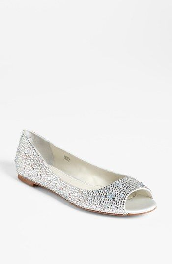 My perfect wedding shoe! Benjamin Adams Flat available at #Nordstrom