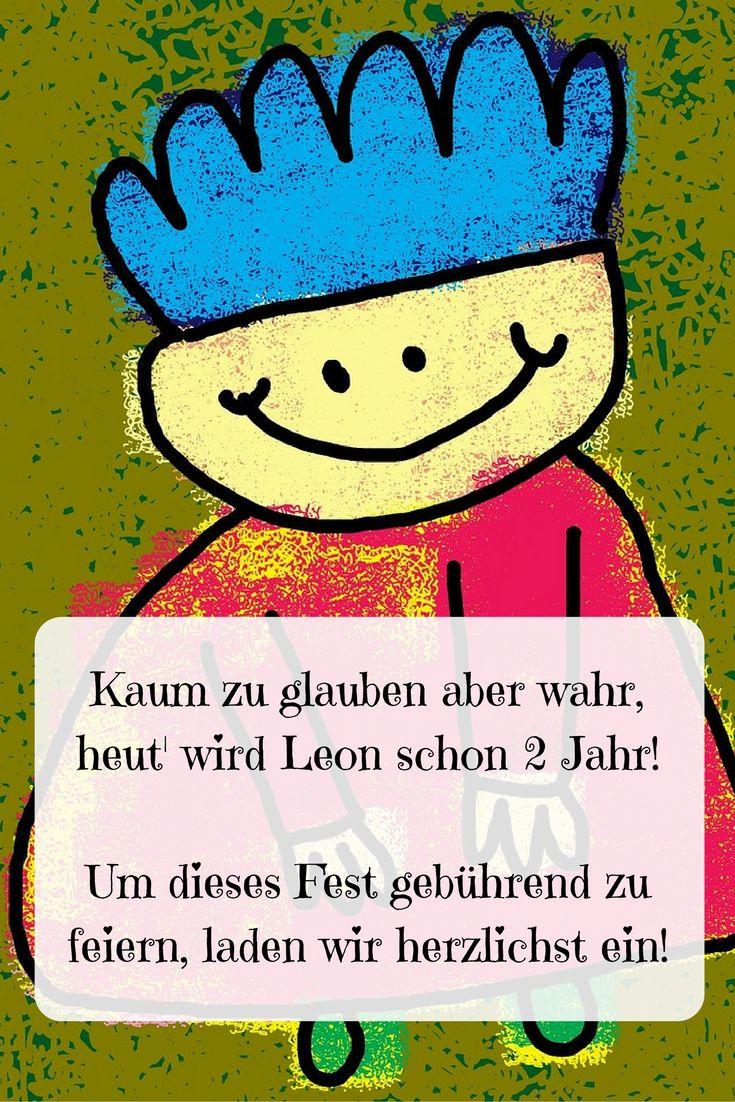 Sprüche Für #Einladungskarte Zum 2. #Geburtstag Kaum Zu Glauben Aber Wahr,  Heut