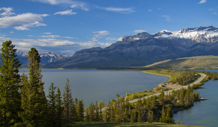 Jasper National Park. The scenic drive east of Jasper is one not to be missed. Visit Jasper Lake, Miette Hot Springs and the Overlander Mountain Lodge as you make your way through mountains, lakes,  rivers, streams and wildlife. www.overlandermountainlodge.com