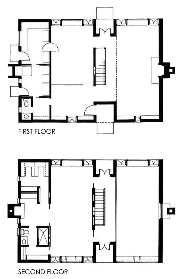Esherick House (Philadelphia, 1959-1961). LOUIS KAHN