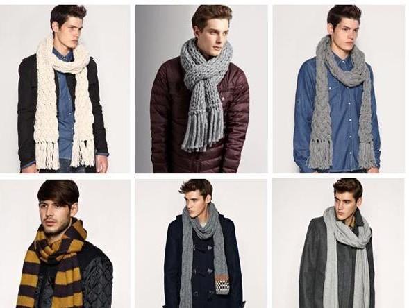 Завязывание шарфов мужчины пальто