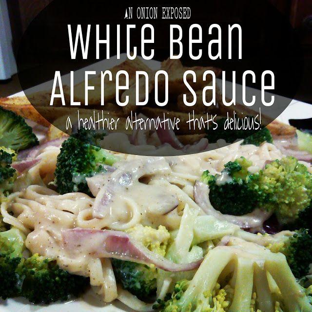 White Bean Alfredo Sauce {An Onion Exposed}