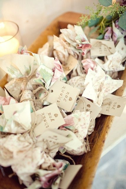 Wildflower Seed Wedding Favors- these would be sooo easy to make. For a winter wedding
