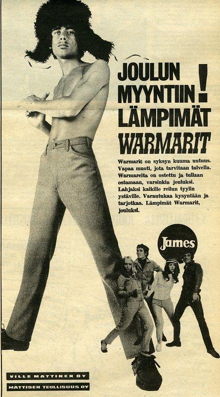 Warmarit #Jamekset #James #Mattisen #farkut #joulu #mainokset #vanhatmainokset