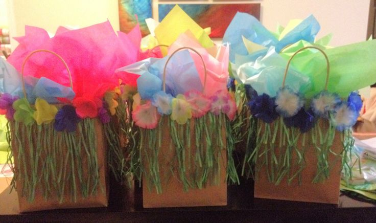 Treat bags for Luau