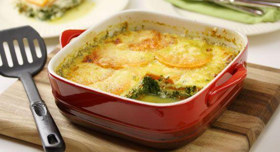 Sweet Potato & Spinach Bake Recipe - weightloss.com.au