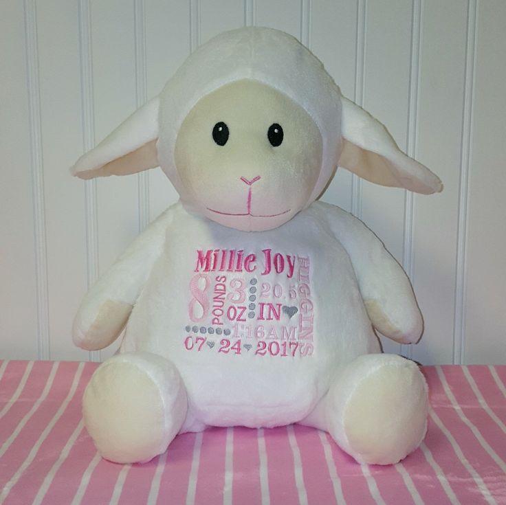 8 best baby girl monogrammed dresses images on pinterest little baby lamb stuffed animal negle Choice Image