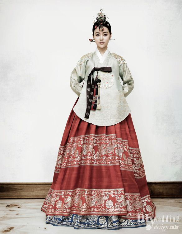 traditional Korean dress.