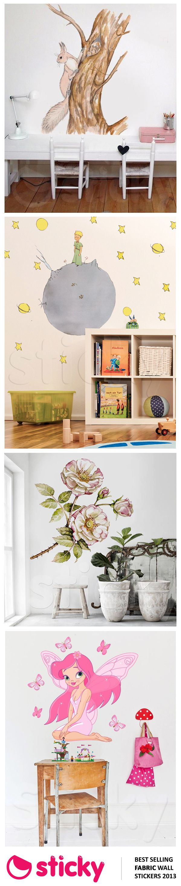 STICKY - Our best selling FABRIC wall stickers for 2013 based on sales!