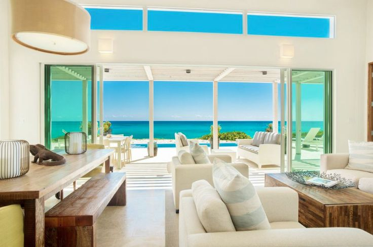 The great room of this finished Reef 3 villa has the perfect view of the beaches of #SouthCaicos http://www.sailrocksouthcaicos.com/real-estate/villas