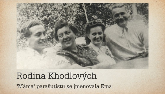"""The paratroopers often slept in the flat of Emanuela and Václav Khodl in what is Kolbenova Street today, in the Vysočany District of Prague. The entire family, including son Václav (first from left), were executed in Mauthausen on October 24, 1942. Source: """"Assassination"""" by Michal Burian et al. The girl in the photo is fiancée of young Václav Khodl. She died of natural death in 1943."""
