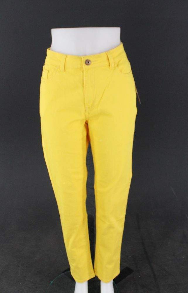 New With Tags Women's BE-GIRL Yellow Skinny Jeans Size 16 #BEGIRL #Skinny