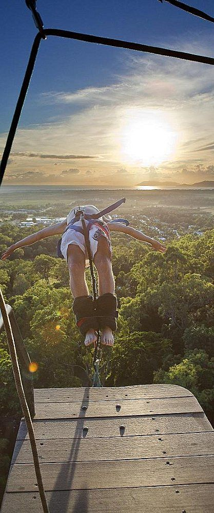 Bungy jumping in Australia . . . yikes