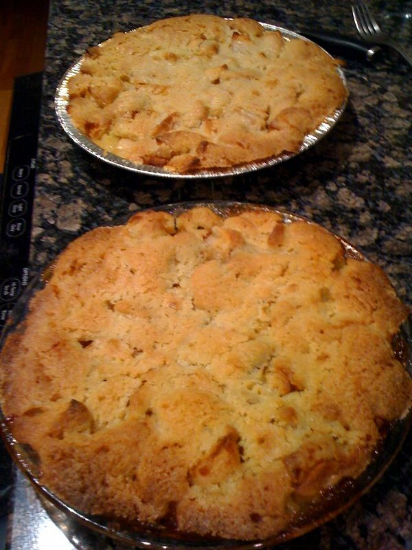 Swedish Apple Pie- makes it's own crust pie. Really good, less sugar on apples next time.