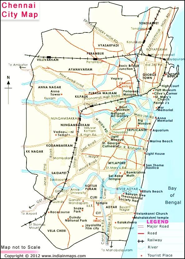 Chennai Tamil N du - road map and street view