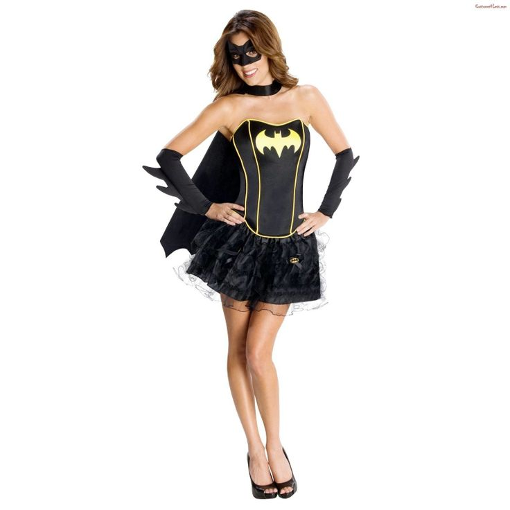 Female Womens Superhero Fancy Dress Costume Corset Tutu Batgirl Robin Supergirl | eBay
