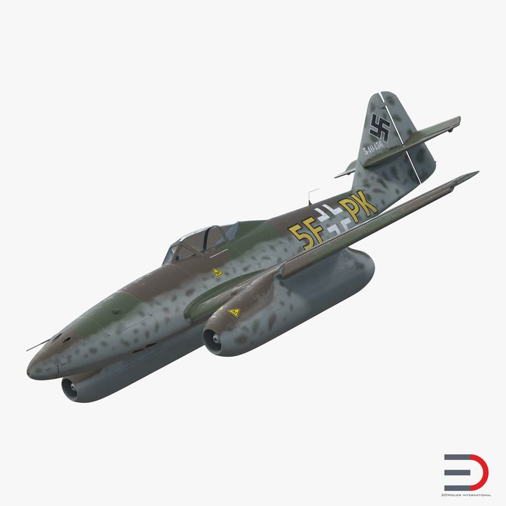 Fighter Aircraft Messerschmitt Me 262 Schwalbe Rigged