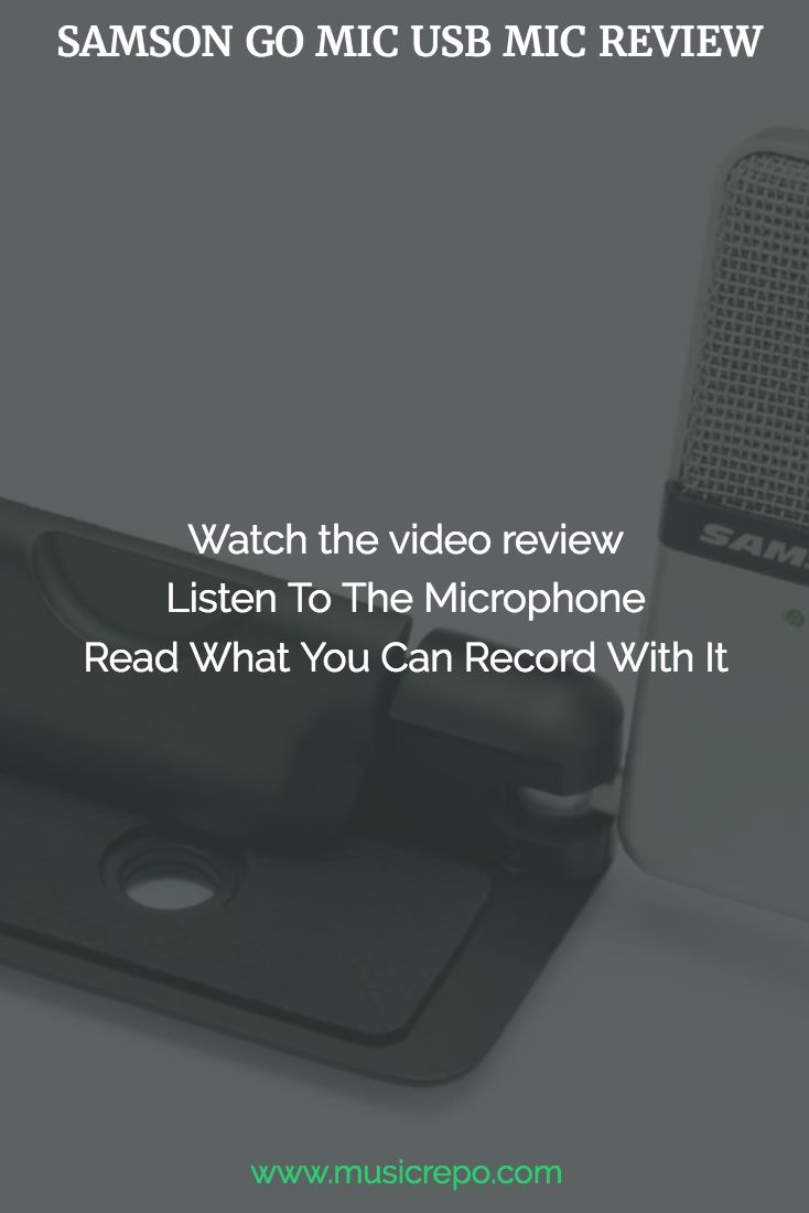 A comprehensive review of the Samson Go Mic USB Microphone with video and audio too