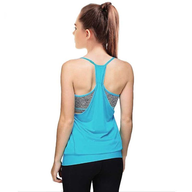 Women Pro Compression QUICK-DRY Tank + Bra Gym Vest Sport T Shirt Yoga Workout Fitness Exercise Run Clothing Tee Top Brand Vest