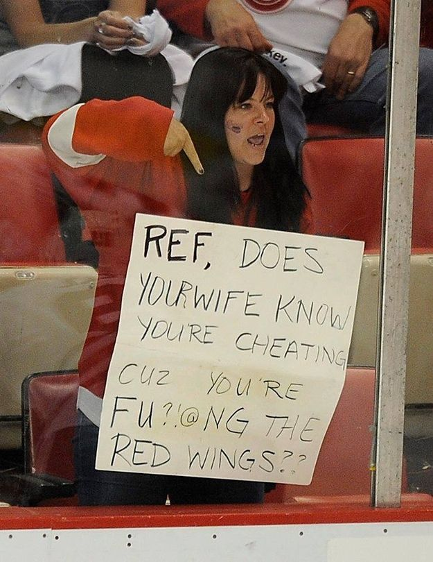 Wow... LOL. I would never do this but it made me laugh. Detroit Red Wings Fans Are The Best!