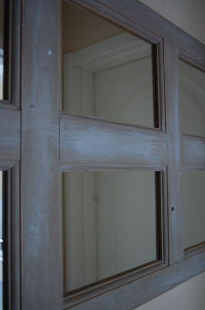 CUORE&COCCOLE by Francy: Specchio shabby chic...in un'anta di legno! Specchio ricavato da un'anta di legno.