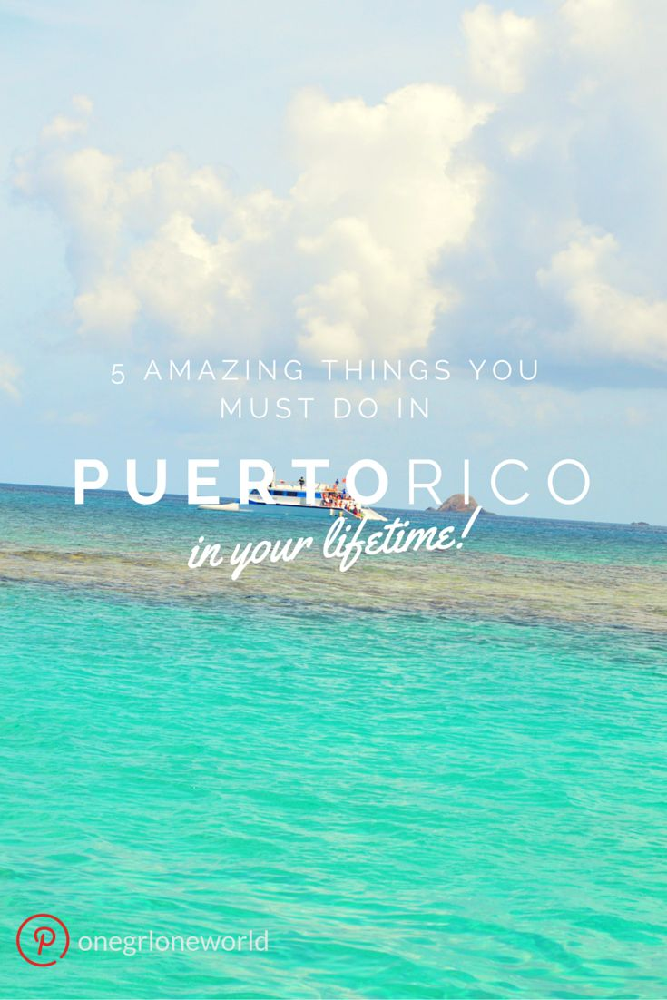 Bio bays that glow in the dark, gorgeous beaches, historic forts and more! Heading to Puerto Rico? Don't miss these 5 amazing things!