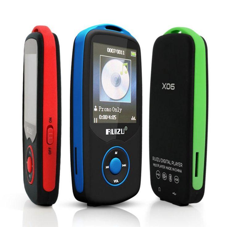 """Nueva Original RuiZu X06 Bluetooth Deportes Reproductor de música MP3 4G 1.8 """"pantalla 100 horas sin pérdidas de alta calidad Grabadora Walkman FM Ebook"""