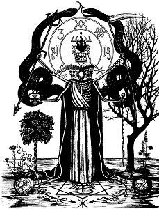 Dentro de la tradición del culto todas las formas de Magia Negra se conectan con el poder de los árboles, plantas y hierbas que caen bajo la influencia del Maestro Cosechador. Este aspecto del Señor Esqueleto se enfoca en esos atributos que se conectan al rol del Primer Cosechador.