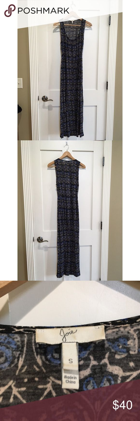 "Joie Boho Bohemian Maxi Dress Printer Summer Armpit to armpit 16"" Length 53"" Care tag has been removed  Cotton blend Great condition - no holes, stains, or rips.  Tie waist detail Scoop Neck Joie Dresses Maxi"