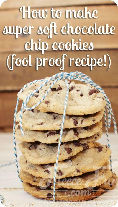 Foodie Friday: Super Soft Chocolate Chip Cookie Recipe! ♥ Fleece Fun