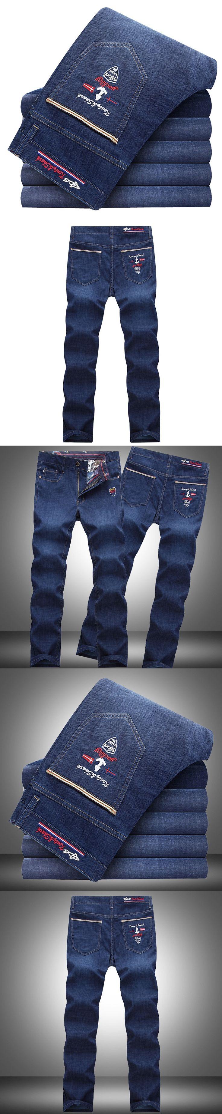 Eden Parak Fashion Tace Shark Men's Jeans Four Seasons France Business Casual Long Jeans High Quality Hommes New Style