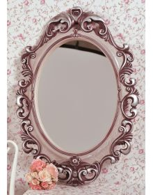Зеркало в декоративной раме Винтажное для детских Вино Серебро Кракелюр