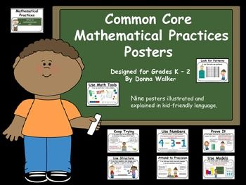 Kid Friendly Mathematical Practices Posters K-2
