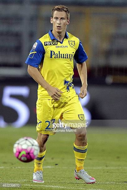 Valter Birsa of AC Chievo Verona in action during the Serie A match between Empoli FC and AC Chievo Verona at Stadio Carlo Castellani on August 23...