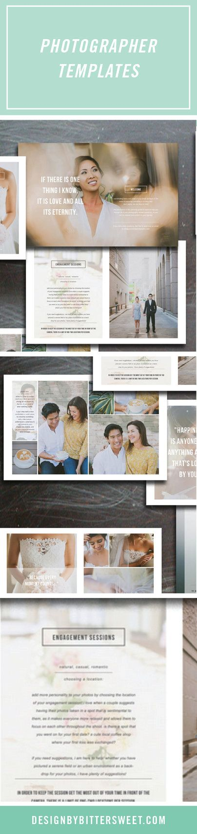 Photography Magazine Template by designbybittersweet #weddingphotography photography branding materials.