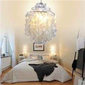 Lustre/lampe moderne blanc en coquille pas cher