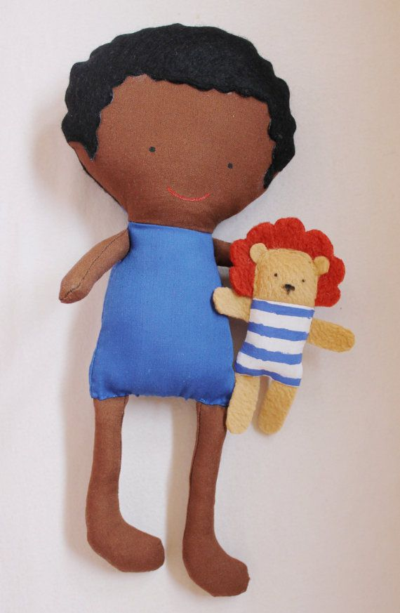Doll Sewing Pattern Toy Cloth Boy Doll Pattern Lion PDF - Jay & Rory Ask a Question $10.00